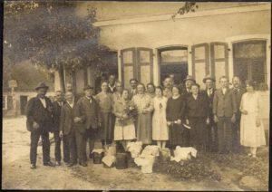 1928: Honigernte